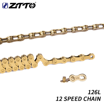 ZTTO MTB 12 Speed Chain Gold 12s eagle Golden 12speed Chain x1 x12 1x12 System Connector Included 126L links For Bicycle bike