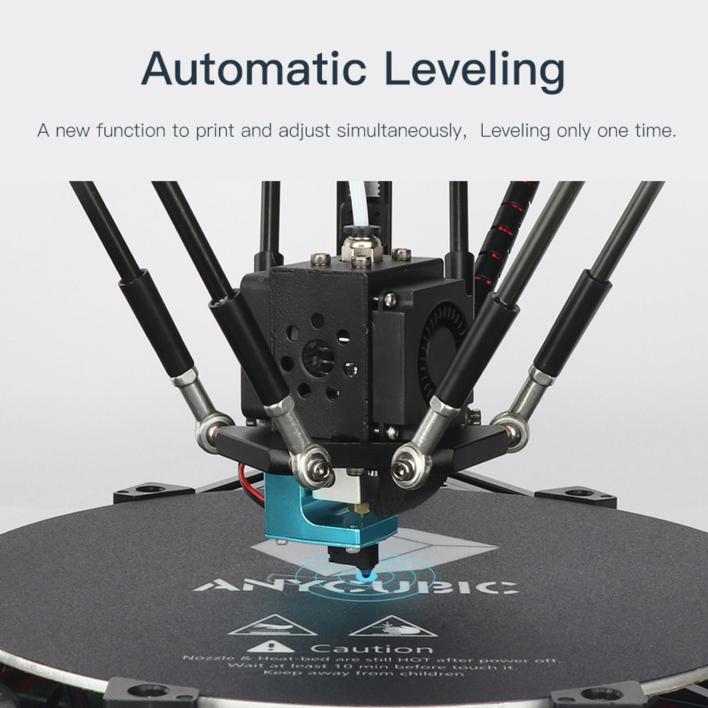 Image 3 - ANYCUBIC Kossel 3d Printer impressora 3D Auto Leveling Module Linear Guide Automatic Leveling Platform 3D Printer Stampante 3D-in 3D Printers from Computer & Office
