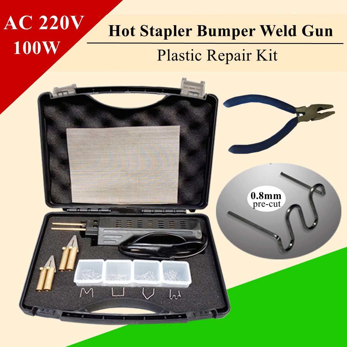 206pcs Hot Stapler For Repairing Car Bumper Fender Fairing Welder Plastic Repair Kit Portable Plastic Welding Machine
