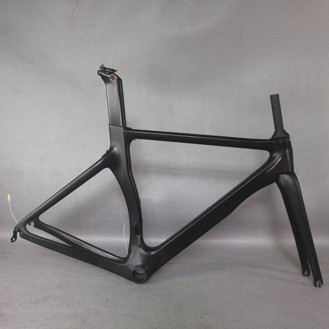 Produkty OEM zero zysk Aero design Ultralight 18K węgla drogowego rama rowerowa z włókna węglowego wyścigi rowerów frame700c zaakceptować malowanie