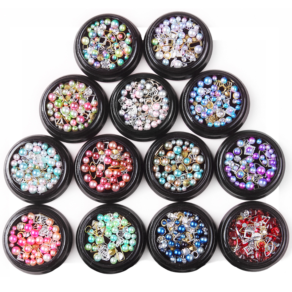 MORDDA Nail Jewlery For Nail Design Glitter Jewelry Glass Charm Diamond Nail Art Decoration 3D Nail Art Decoration For Manicure
