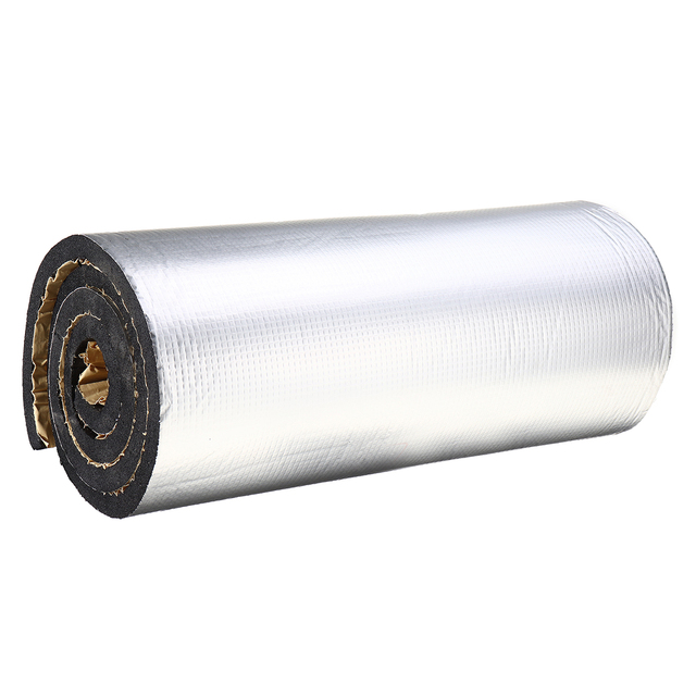 200cmx50cm 5mm-30mm Aluminum Foil Mat Car Hood Engine Firewall Heat Mat Deadener Sound Noise Proof Insulation Deadening