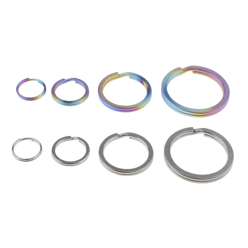 14mm 10 Pieces 14mm Titanium Round Circle Type Key Rings Keychains Clips