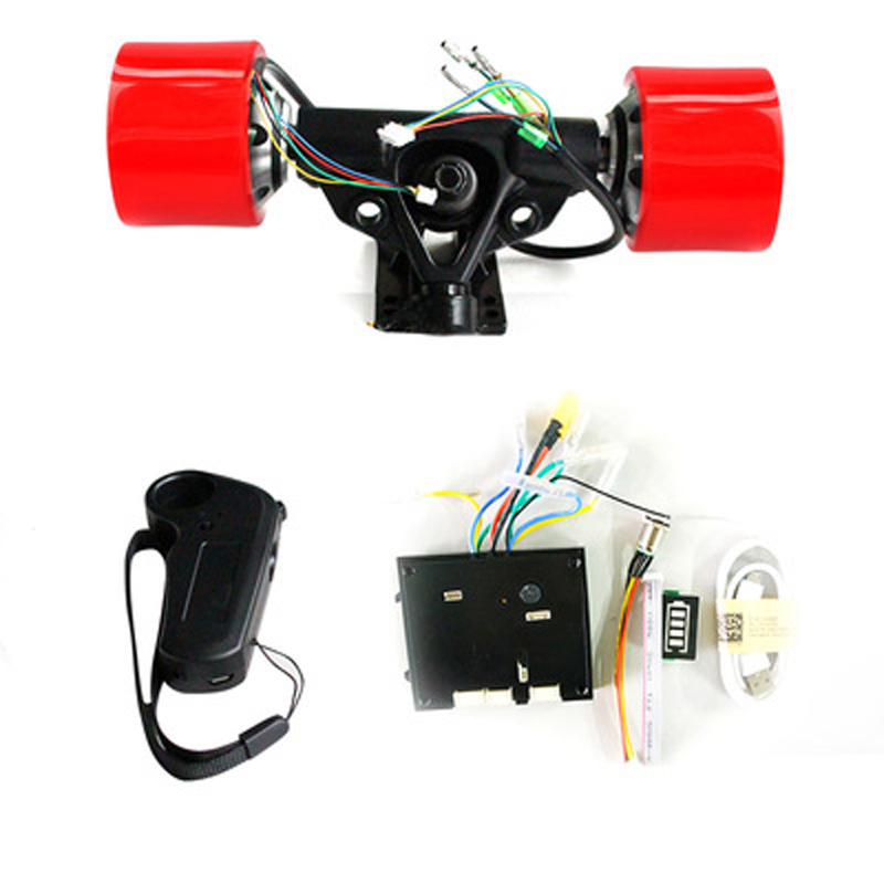 DIY Dual Drive 70mm 83mm 90mm 180W 250W 350W Electric Skateboard Hub Motor Truck Kits ESC And Controller Remote Skate Board