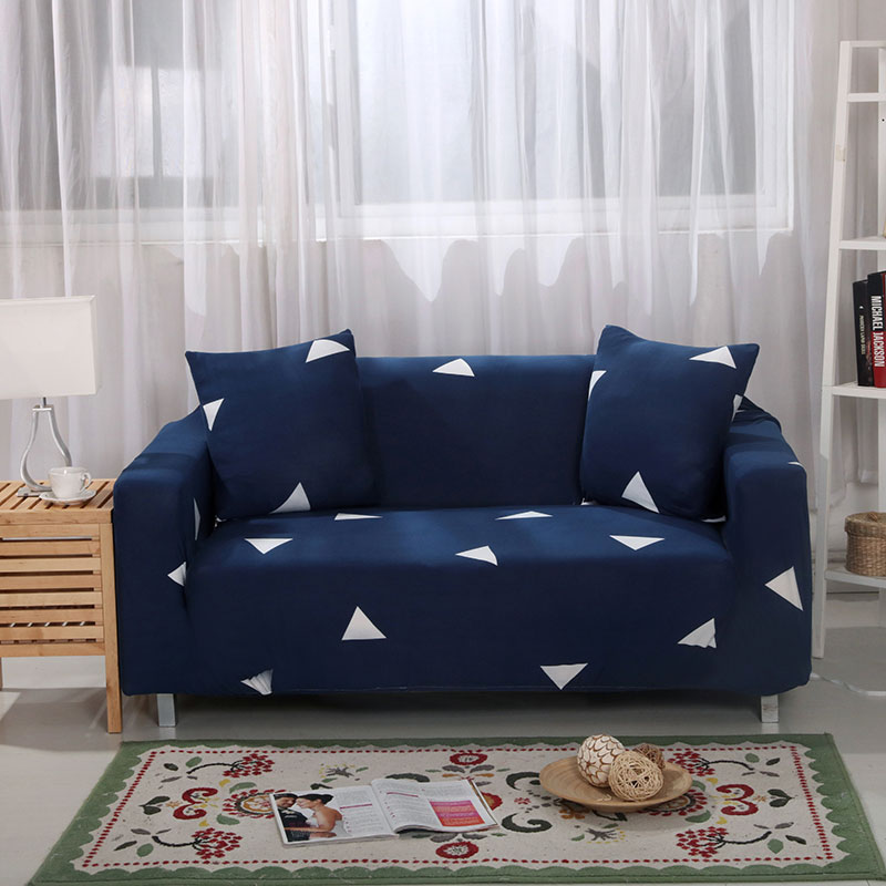 Floral Printing and Wrinkle Free Sofa Cover with Elastic Bands and Straps for Living Room Corner Sofa