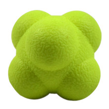Bola de reação hexagonal silicone agilidade coordenação reflexo exercício esportes fitness bola treinamento reação
