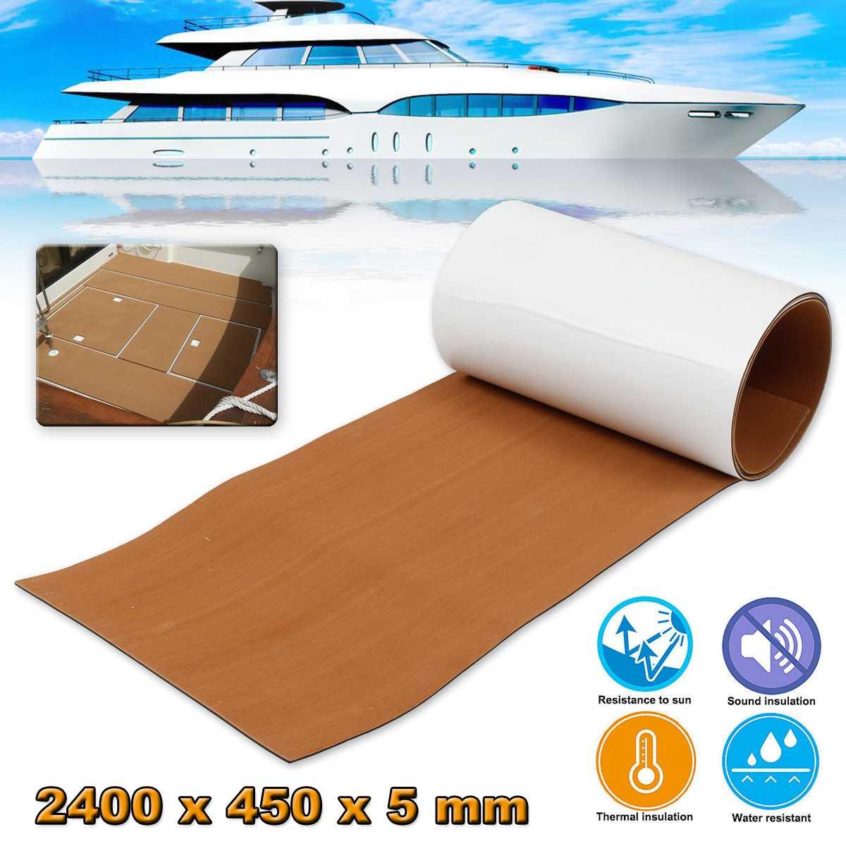 Self-Adhesive EVA Foam Teak Decking Foam Marine Flooring Faux Limo Boat Decking Sheet Accessories Marine 4 Colors 450x2400x5mm