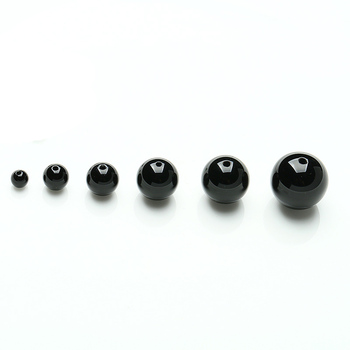 Grade A Black Agate Stone Beads Natural DlY Bracelet Necklace Accessories 4,6,8,10,12,14 mmW Each image