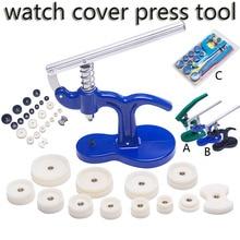 Uhr Fall Abdeckung Presse Werkzeug Uhr Batterie Ersatz Fitting Stirbt Uhr Zurück Abdeckung Remover Näher Uhrmacher Reparatur Kit Tools