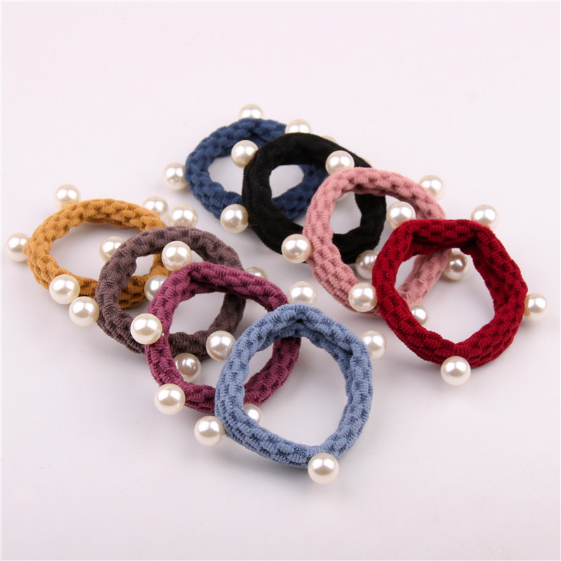 10pc/lot Scrunchie Women Hair Rope Elastic Hair Bands Candy Color Hair Rings Rubber Band For Girls Princess Hair Accessories