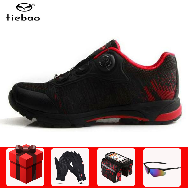 Tiebao Professional Leisure Cycling Shoes MTB Bike Bicycle Shoes Sneakers Auto Lock Athletic Racing Shoes Outdoor Touring Shoes|Cycling Shoes| |  - title=