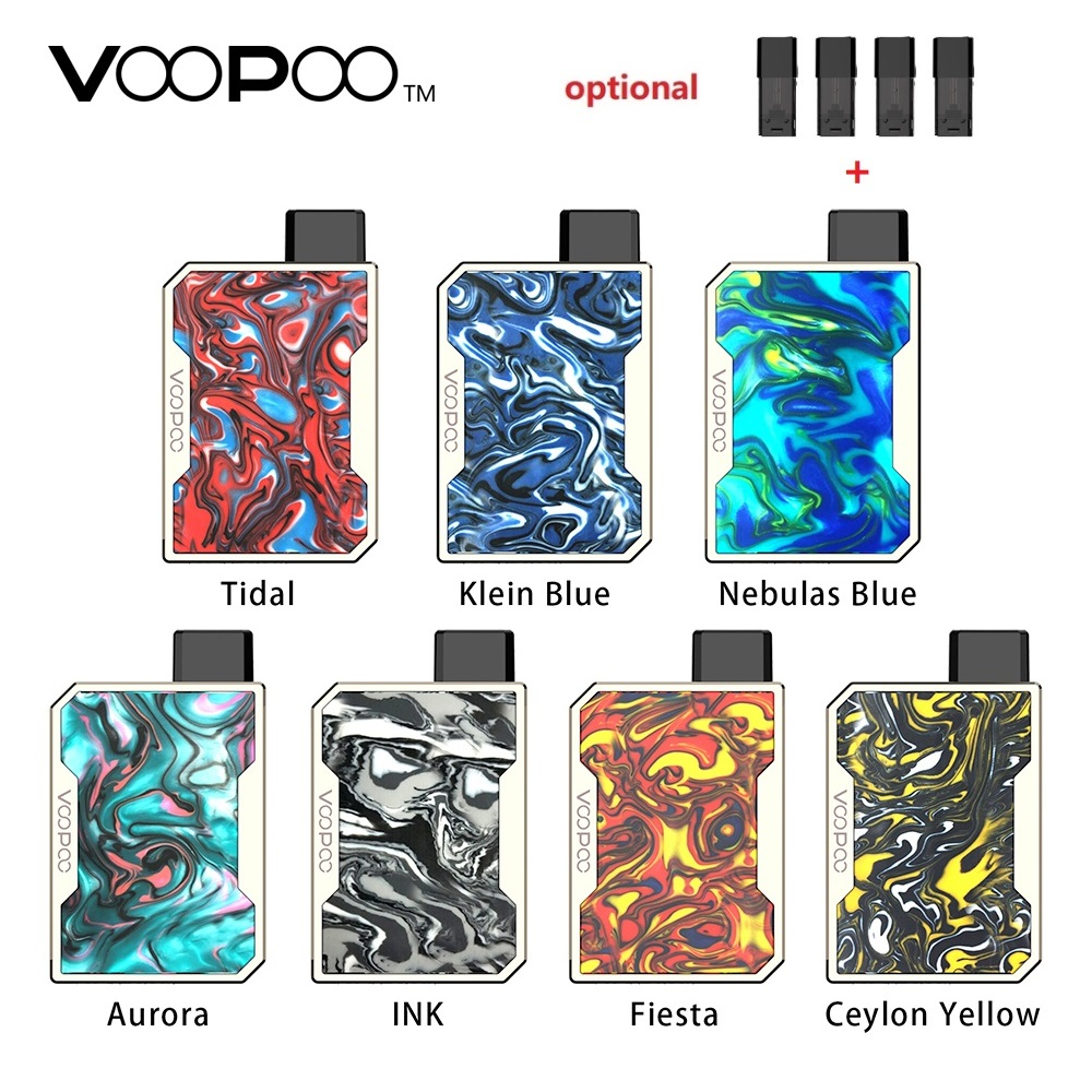 Newest VOOPOO DRAG Nano Pod Vape Kit W/ 750mAh Battery & 1ml Cartridge & GENE Chip & Resin Panel Pod System Vs Drag 2/ Pal 2 Pro