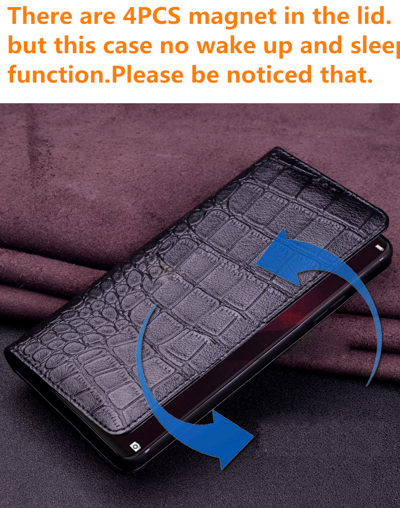 Image 5 - Natural genuine leather ultra thin case for Xiaomi Mi A3/Xiaomi  Mi A2/Xiaomi Mi A1 flip case leather cover standing phone bagFlip  Cases