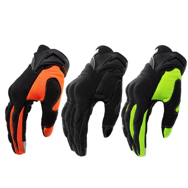 Sport Motorrad Voll Finger Handschuh Sommer Nicht-slip Atmungs Mountain Fahrrad Hand Abdeckung Motorrad Anti-herbst Schützen W91F