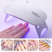 HOT 2 Color 6W Nail Dryer Mini LED Uv Lamp Portable USB Gel Lamp Cable Home Use  Nail Art Polish Light Manicure Machine Tool