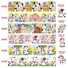 free shipping characters cartoon characters printed grosgrain ribbon 37216(China)