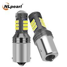 A lâmpada de sinal 1156 p21w do diodo emissor de luz de nlpearl 1x ba15s bau15s py21w 2016 smd 1157 bay15d conduziu p21/5w pisca a lâmpada de parada 12-24v da luz de freio