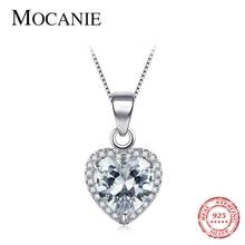 Mocanie, романтическое ожерелье из стерлингового серебра 925 пробы с прозрачными сердечками, ожерелье для женщин, принцесса, королева, благородн...