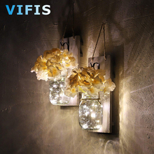 Rustic Wall Sconces for Home Decor Flower Wall Light with LED Strip Light with Remote Control for Courtyard Porch home decor