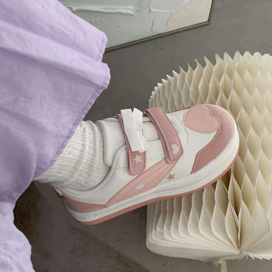 japonês doce meninas tênis rosa coração calçados linda lolita sapatos