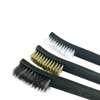 Universal Gun Hunting Cleaning Kit Steel Wire Brush Nylon Pick Set Tactical Rifle Pistol Gun Hunting Cleaning Tool Accessories 4