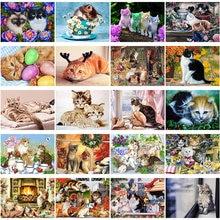 5d diy diamond painting cat embroidery animal cross stitch mosaic