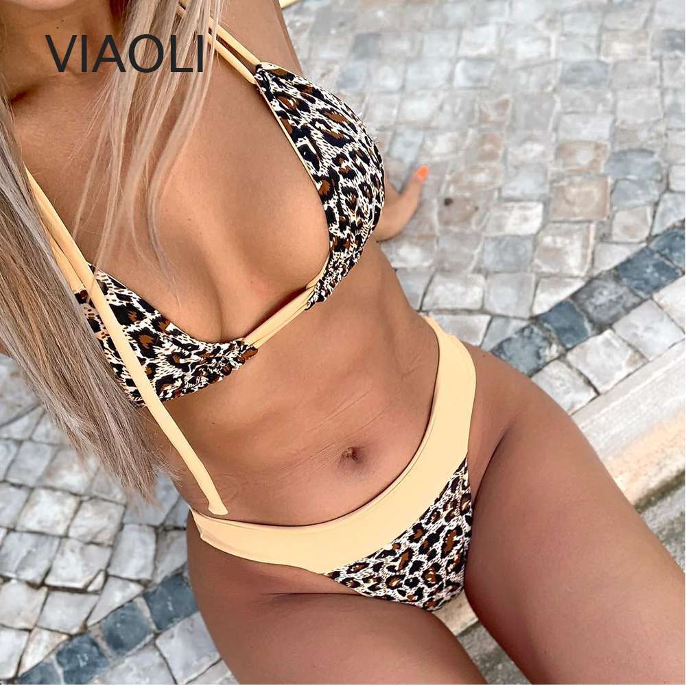 Women's Swimsuit Women Push Padded Beach Bra Bikini Set Beachwear Bathing Suit Print Swimwear High Waisted Bikini Bathing Suit