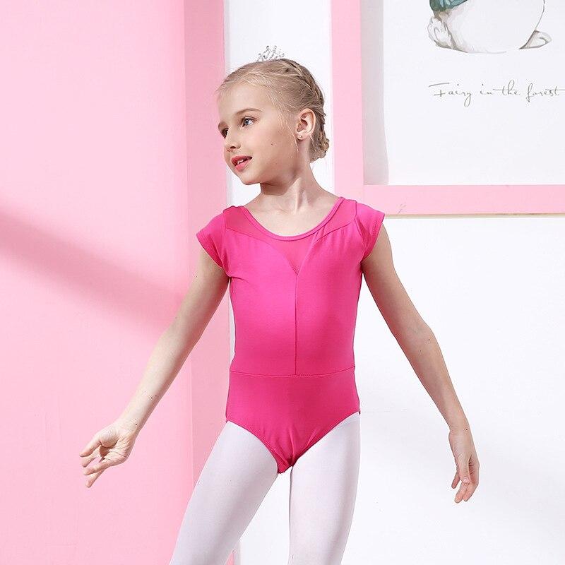 Детская танцевальная балетная Одежда для девочек; балетная юбка для осмотра; кружевная юбка с длинными рукавами; плотная разноцветная балетная одежда для латиноамериканских танцев - Цвет: red short sleeve