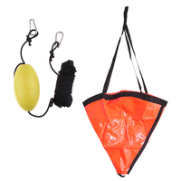 32'' Drift Sock Sea Anchor Drogue With Kayak Tow Rope Line Buoy Ball Float