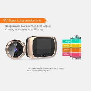 Image 5 - 2.8 بوصة LCD اللون شاشة جرس الباب الرقمي مستشعر حركة بالأشعة تحت الحمراء طويلة الاستعداد للرؤية الليلية HD كاميرا في الهواء الطلق جرس الباب