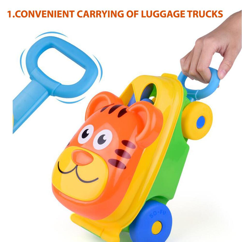 Children Beach Luggage Cart Toy Luggage Cart +14 Accessories (Color Random) Summer Sand Water Play Toys