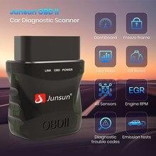 Junsun-ماسح ضوئي صغير للسيارة ، محول راديو السيارة ، OBD 2 ، Bluetooth 5.0 ، V1.5/V2.1 ، Android ، IOS ، Android 10.0