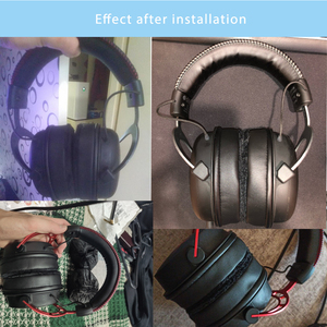 Image 5 - NULLKEAI وسادات أذن من الجلد المخملي ، من أجل HyperX Cloud Alpha ، Cloud Core ، سماعات أذن عالية الجودة