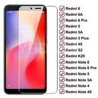Protector de cristal templado 9D para Xiaomi Redmi 6 Pro, 6A, 5 Plus, 5A, 4X, S2, Note 6, 5, 5A, 4, 4X Pro