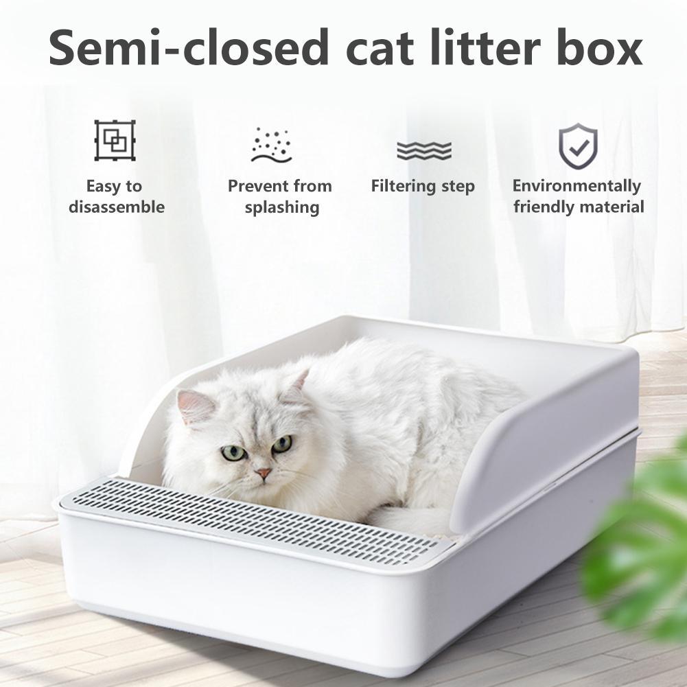 Cats Litter Box Pet Toilet Bedpan Anti Splash Cat Dog Tray with Shovel Kitten Dog Clean Toilette Home Plastic Sand Box Supplies