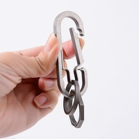 Outdoor Camping Snap Safety Hook Pure Titanium Carabiner Key chain Hiking Key Ring Buckle Maximum weight 25KG