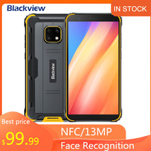 Blackview BV4900 Pro téléphone portable 4GB 64GB Octa Core Android 10 téléphone portable étanche 5580mAh NFC 5.7 pouces 4G combiné