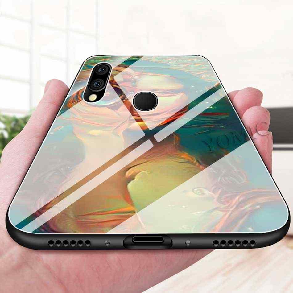Чехлы для телефонов Spoof Mona Lisa с забавным искусством из закаленного стекла для samsung Galaxy S10 S10e S9 S8 S10 Plus Note 9 10 A50 A30