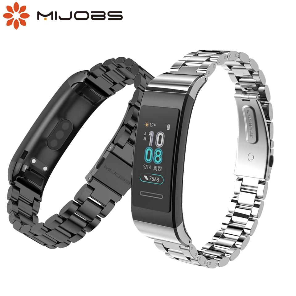 Bracelet For Huawei Band 3 Pro Metal Wrist Strap Stainless Steel Bracelet For Huawei Band 3pro Replaceable Smart Band Strap