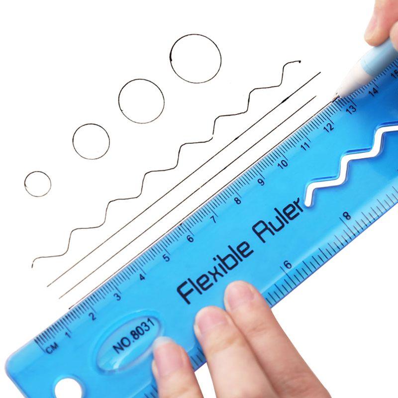 Soft 30cm Ruler Multicolour Flexible Creative Stationery Rule Office School Supplies