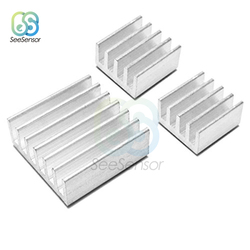 3pcs/set Adhesive Raspberry Pi Heatsink Cooler Pure Aluminum Heat Sink Set Kit Radiator For Cooling Raspberry Pi 2 B