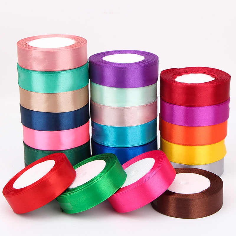 6mm-50mm 25Yards/Roll Grosgrain Satin Ribbons for Wedding Christmas Party Decoration Handmade DIY Bow Craft Ribbons Card gift