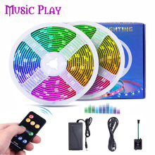 New Music Controller 5050 LED Light Strip Set Ambilight 5050 SMD RGB Strip Light Multi Color Changing TV Background Lightgting