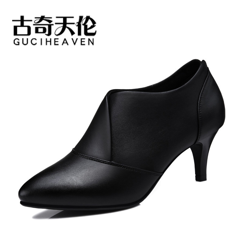 Gucci Tianlun 8470-1 Pointed-Toe Low-cut Shoes Deep Mouth Foot Covering WOMEN'S Shoes Thin Heeled WOMEN'S Shoes