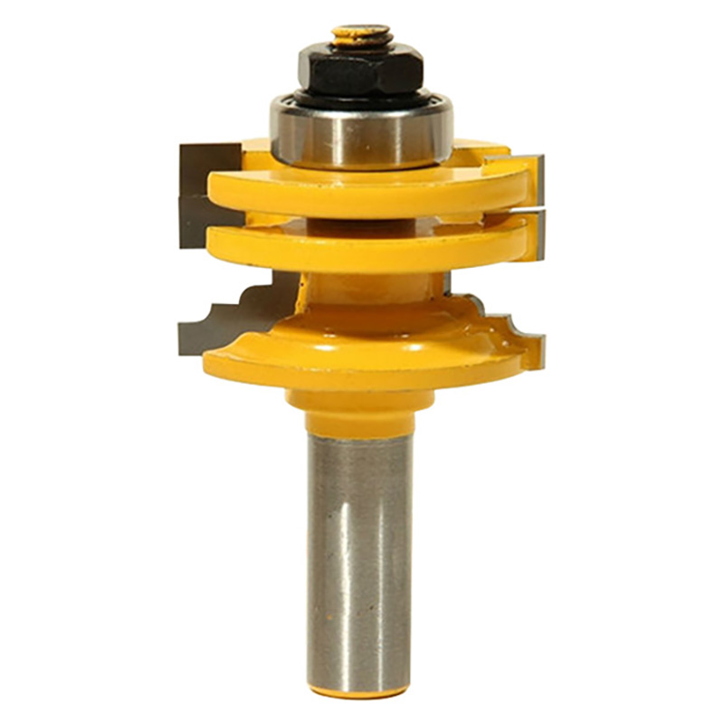 HHO-8Mm Glass Door Trimming Router Bit Wood Engraving Cutting Tool Woodworking Groove Tenon Milling Cutter 80505