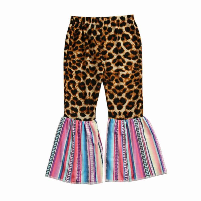 Çocuklar yürümeye başlayan bebek kız pantolon çan dipleri pantolon Legging geniş bacak Flare elbise 1-6T