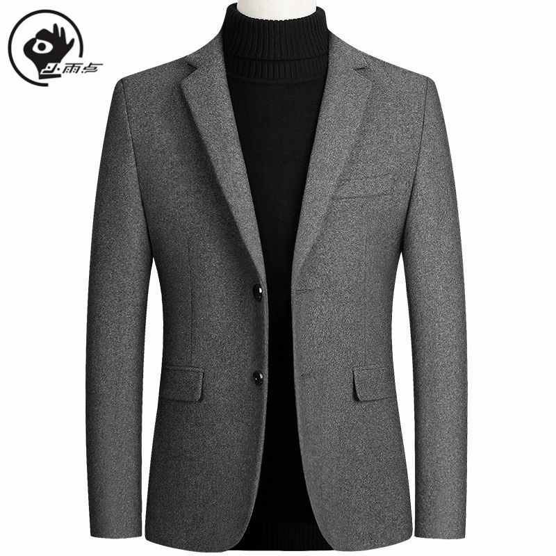 XiaoYudian Solid Blazer British Stylish Male Blazer Suit Jacket Business Casual For Men Regular Woolen Coat Brand