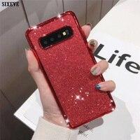 Funda de lujo con brillantina y diamantes de imitación para Samsung Galaxy S7 Edge S8 S9 S10 S20 Plus Ultra Note 8 9 10 Pro Lite funda suave para teléfono móvil
