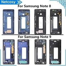 Carcasa para Samsung Note 8 Note 9, Marco medio, cubierta de placa biselada, reparación para Samsung Galaxy Note 8 N950 Note 9 N960