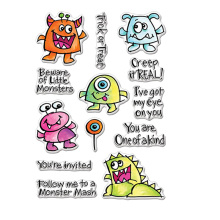 Naughty Monsters Clear Stamps Trick Or Treat Halloween For DIY Card Making Kids Transparent Silicone Stamp New 2019